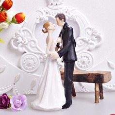 Kissing Couple Resin Wedding Cake Topper (122036197)