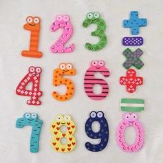 Números & Símbolos Madera Imanes del refrigerador (Juego de 15 piezas) (051053238)