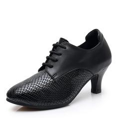 Kvinnor Äkta läder Klackar Latin Modern Dansskor (053182596)