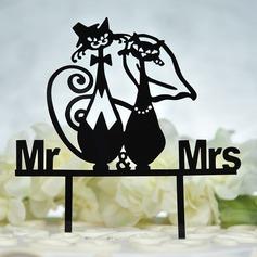 Mr & Mrs Acrilico Decorazioni per torte (119156955)