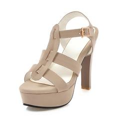 Donna Camoscio Tacco a spillo Sandalo Stiletto Piattaforma con Cava-out scarpe (087171526)
