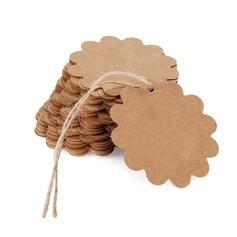 stile vintage/Stile classico/Folletti mestiere di DIY Flora Disegno/Rotondo Kraft Paper tag (Set di 100) (051166363)