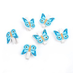 Schmetterling Aus Holz Clips (Satz 6) (051072235)