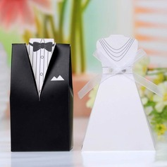 Tuxedo & Gown Favor Boxes With Ribbons (Set of 12) (050026822)