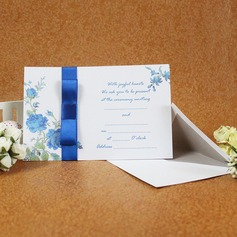 Classic Style Flat Card Invitation Cards With Ribbons (Set of 50) (114030747)