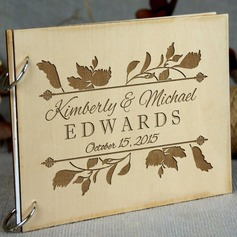 Personalized design Wood Guestbook (101198157)