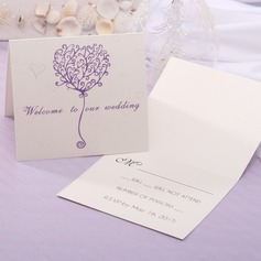 Personalized Modern Style Top Fold Response Cards (Set of 20) (114063935)