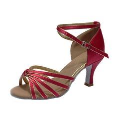 Donna Raso Tacchi Sandalo Latino con Listino alla caviglia Scarpe da ballo (053053106)