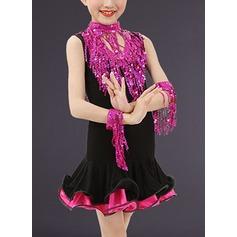 Per bambini Abbigliamento danza Poliestere Ballo latino Abiti (115168407)