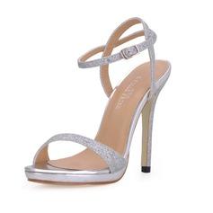 Kvinnor Glittrande Glitter Stilettklack Sandaler Slingbacks med Spänne (047017921)