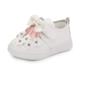 Mädchens Leder Flache Ferse Geschlossene Zehe Flache Schuhe mit Bowknot Strass Klettverschluss Blume (207102017)