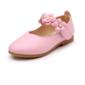 Mädchens Geschlossene Zehe Leder Flache Ferse Flache Schuhe Blumenmädchen Schuhe mit Klettverschluss Blume (207102021)