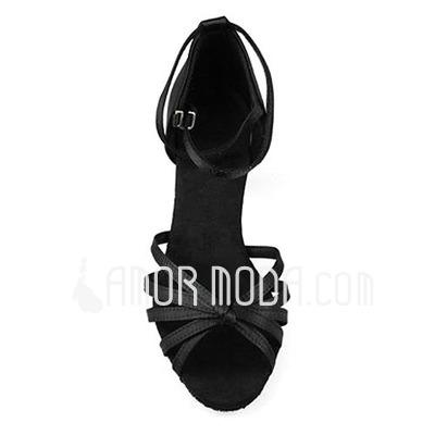 Women's Satin Heels Sandals Latin Dance Shoes (053012980)