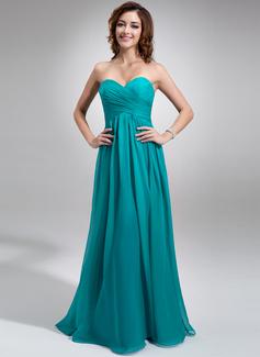 Empire Sweetheart Floor-Length Chiffon Bridesmaid Dress With Ruffle (007016755)