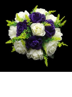 Eye-catching Round Satin Bridesmaid Bouquets (123031496)