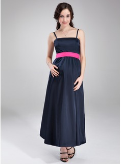Empire Ankle-Length Charmeuse Maternity Bridesmaid Dress With Sash (045004420)