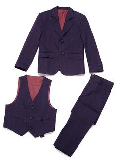 Boys 3 Pieces Plaid Ring Bearer Suits /Page Boy Suits With Jacket Vest Pants (287199769)