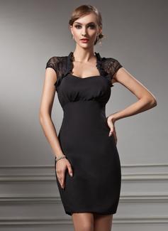 Платье-чехол В виде сердца Мини-платье шифон кружева Коктейльные Платье (016021212)