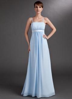 С завышенной талией Длина до пола шифон Свадебные Платье Для Беременных Невест с Рябь (045004393)