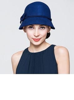 Ladies' Gorgeous Autumn/Winter Wool With Bowknot Bowler/Cloche Hat (196075395)