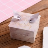 Sweet Love Cubic Card Paper Favor Boxes With Ribbons (Set of 30) (050197389)