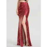 Trumpet/Mermaid Floor-Length Sequined Prom Dresses With Split Front (018199628)