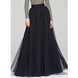 A-Line/Princess Floor-Length Tulle Cocktail Dress (016087553)