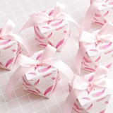 Creative/Lovely diamond shape Card Paper Favor Boxes & Containers With Ribbons (Set of 20) (050203441)