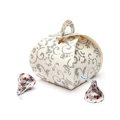 Floral Design Handbag shaped Favor Boxes (Set of 12) (050038239)