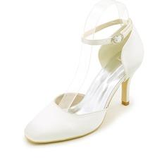 Женщины шелка как атласное Высокий тонкий каблук На каблуках с Другие (047111542)