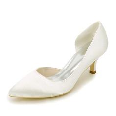 Женщины шелка как атласное Высокий тонкий каблук На каблуках с Другие (047111535)