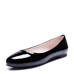 Women's Leatherette Flat Heel Flats Closed Toe shoes (086124734)