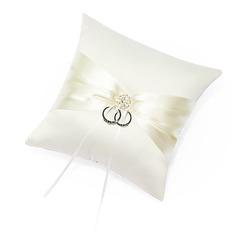 Ring Pillow in Satin With Sash/Rhinestones (103018255)