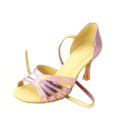 Women's Leatherette Heels Sandals Latin With Ankle Strap Dance Shoes (053013021)