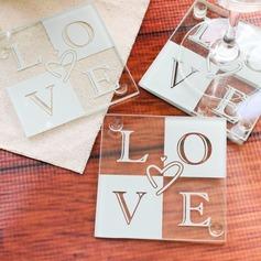 Love Glass Coaster (Set of 2) (051145124)