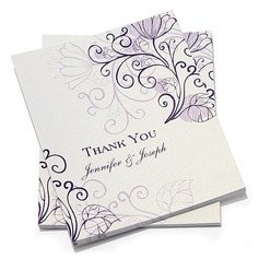 Personalized Floral Style Thank You Cards (Set of 10) (114054972)