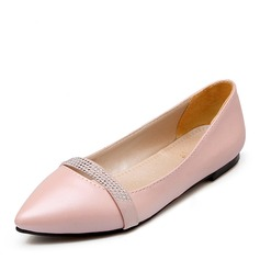 Women's PU Flat Heel Flats Closed Toe With Others shoes (086141393)